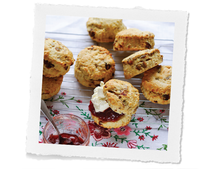 Mixed Fruit Oat Scones