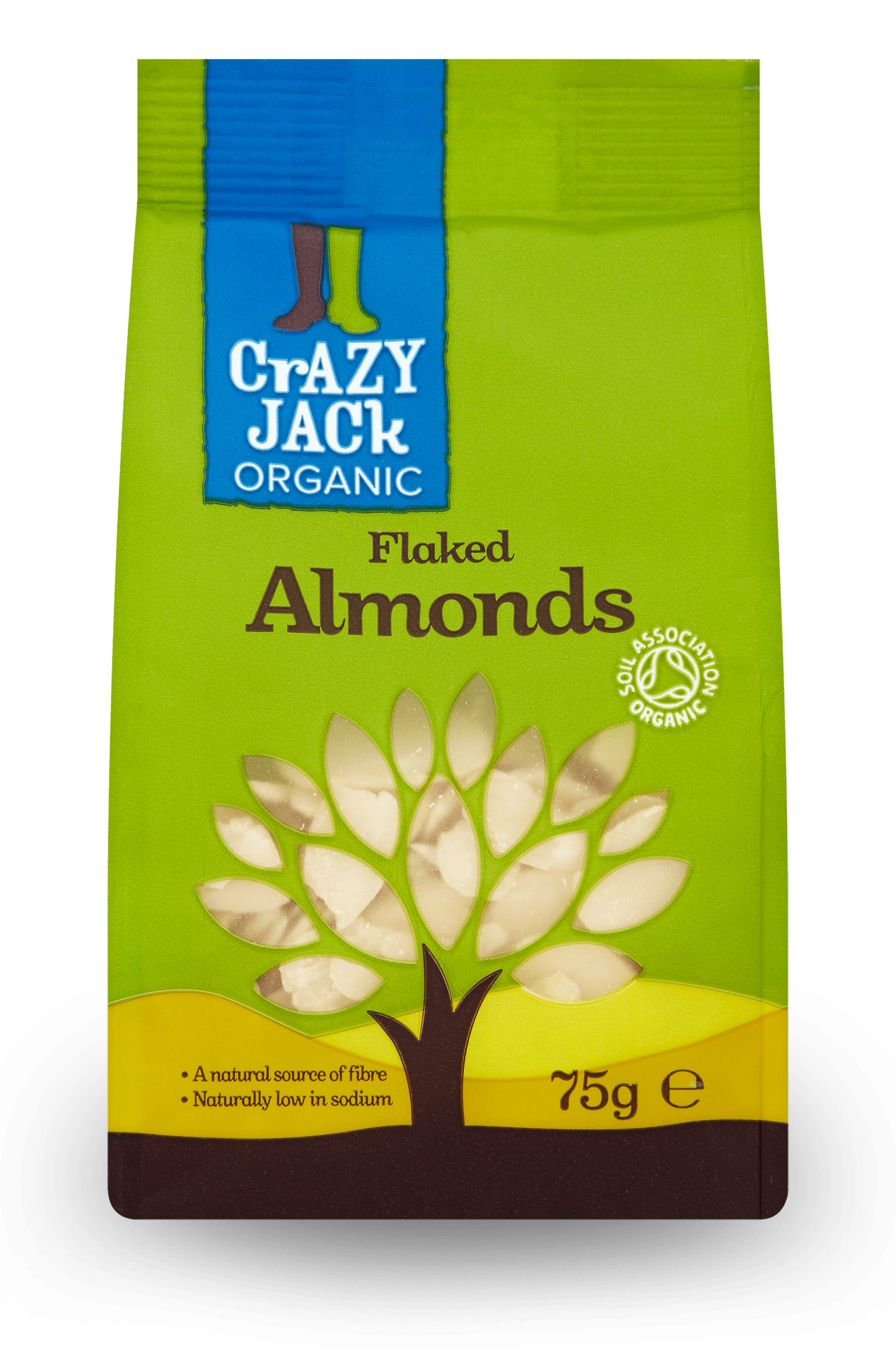 75g packet of organic flaked almonds