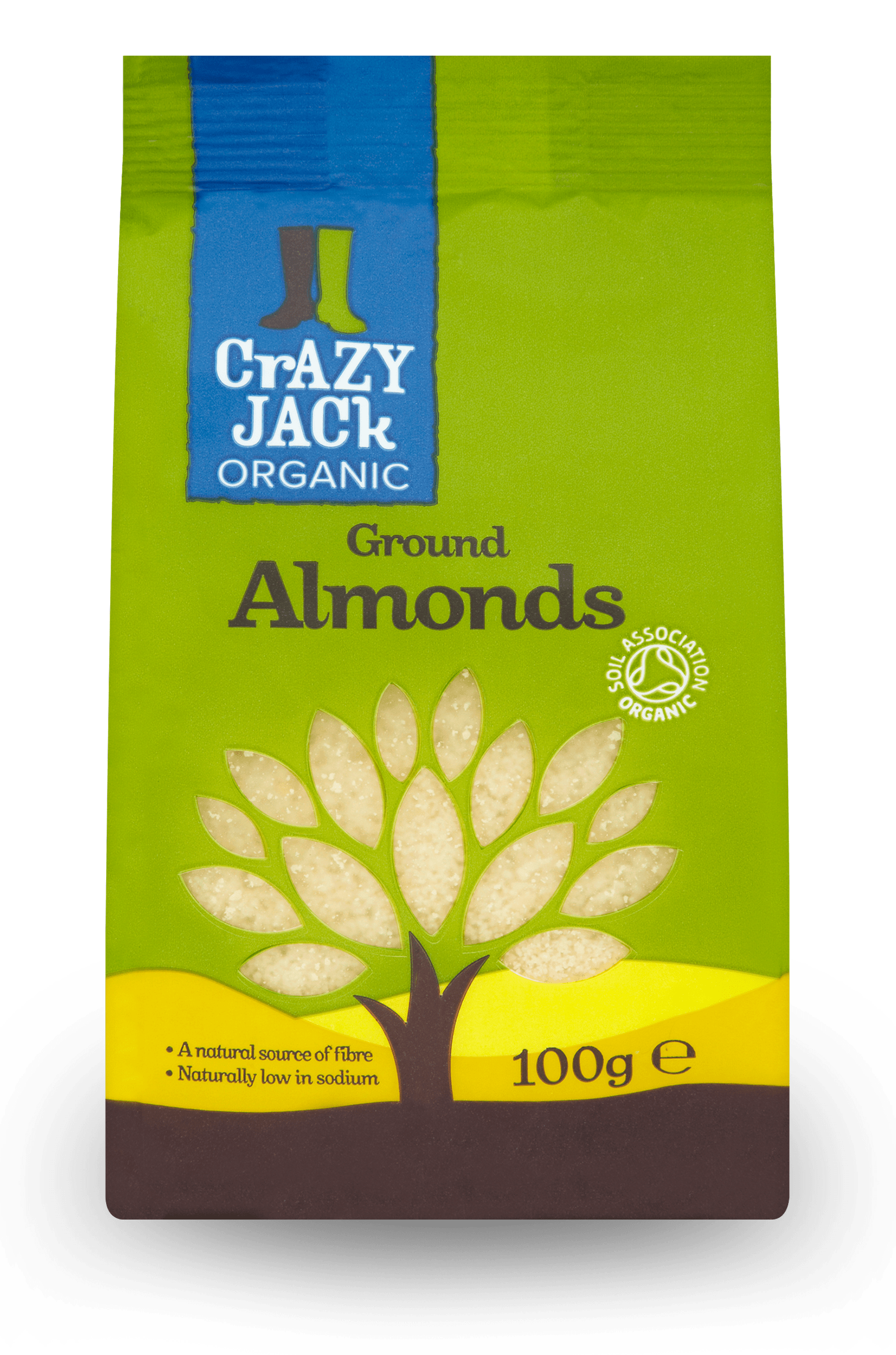 100g packet of organic ground almonds