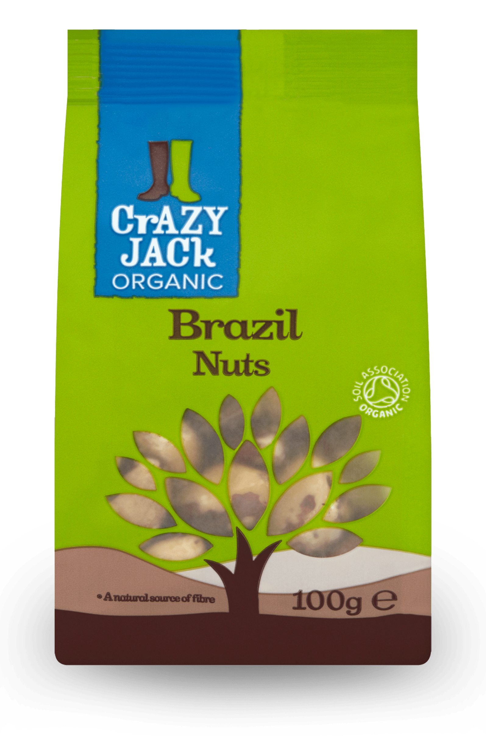 100g packet of organic brazil nuts