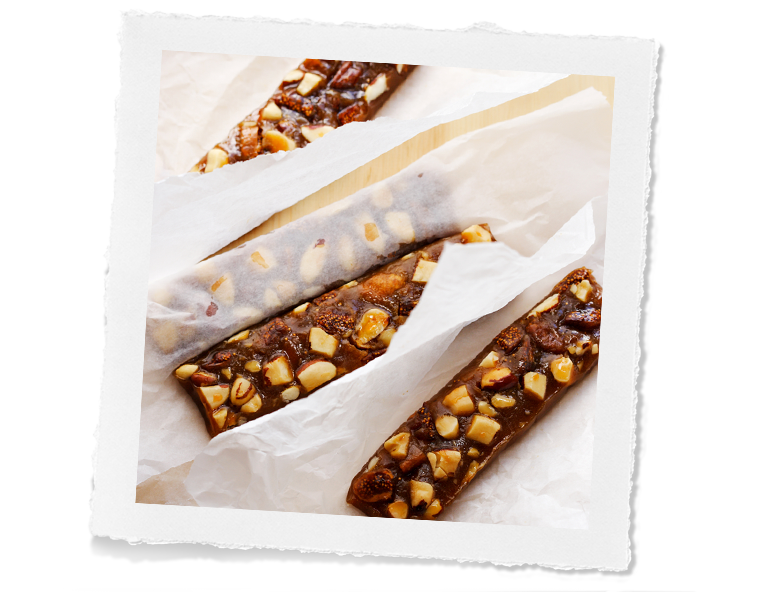 Brazil Nut and fig toffee