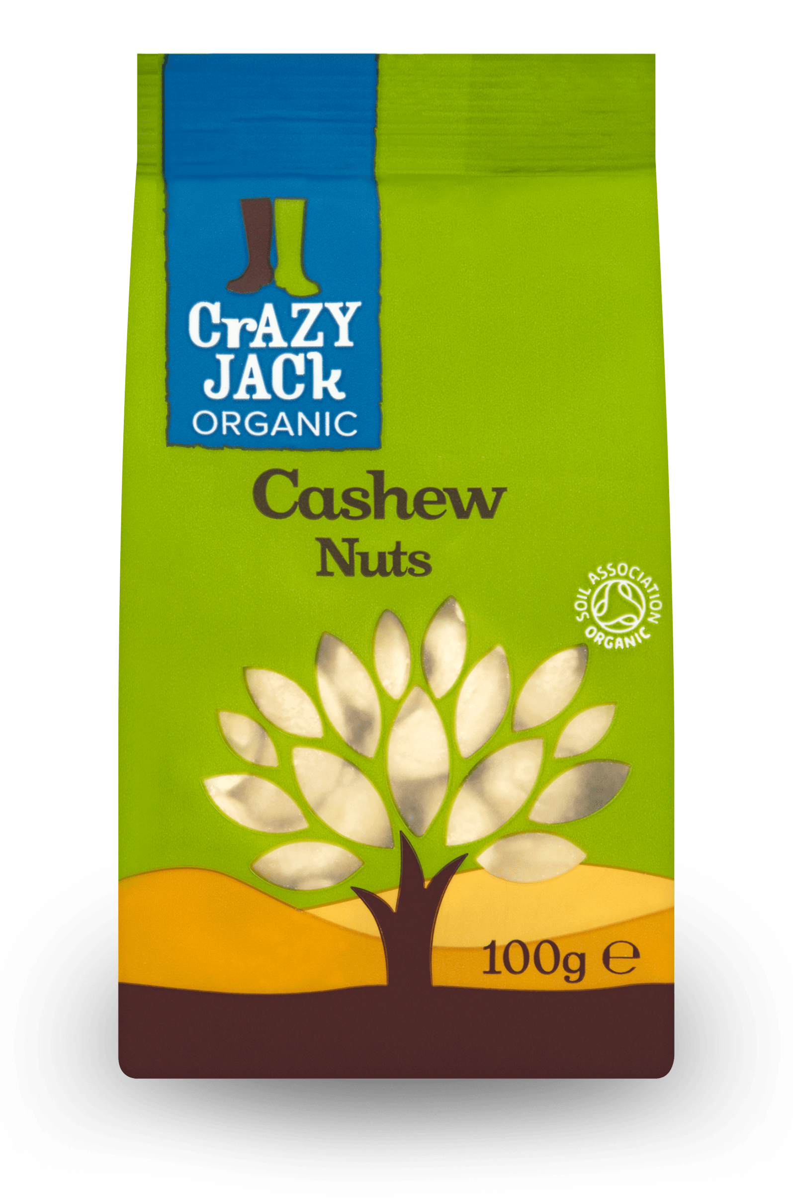 100g packet of organic cashew nuts