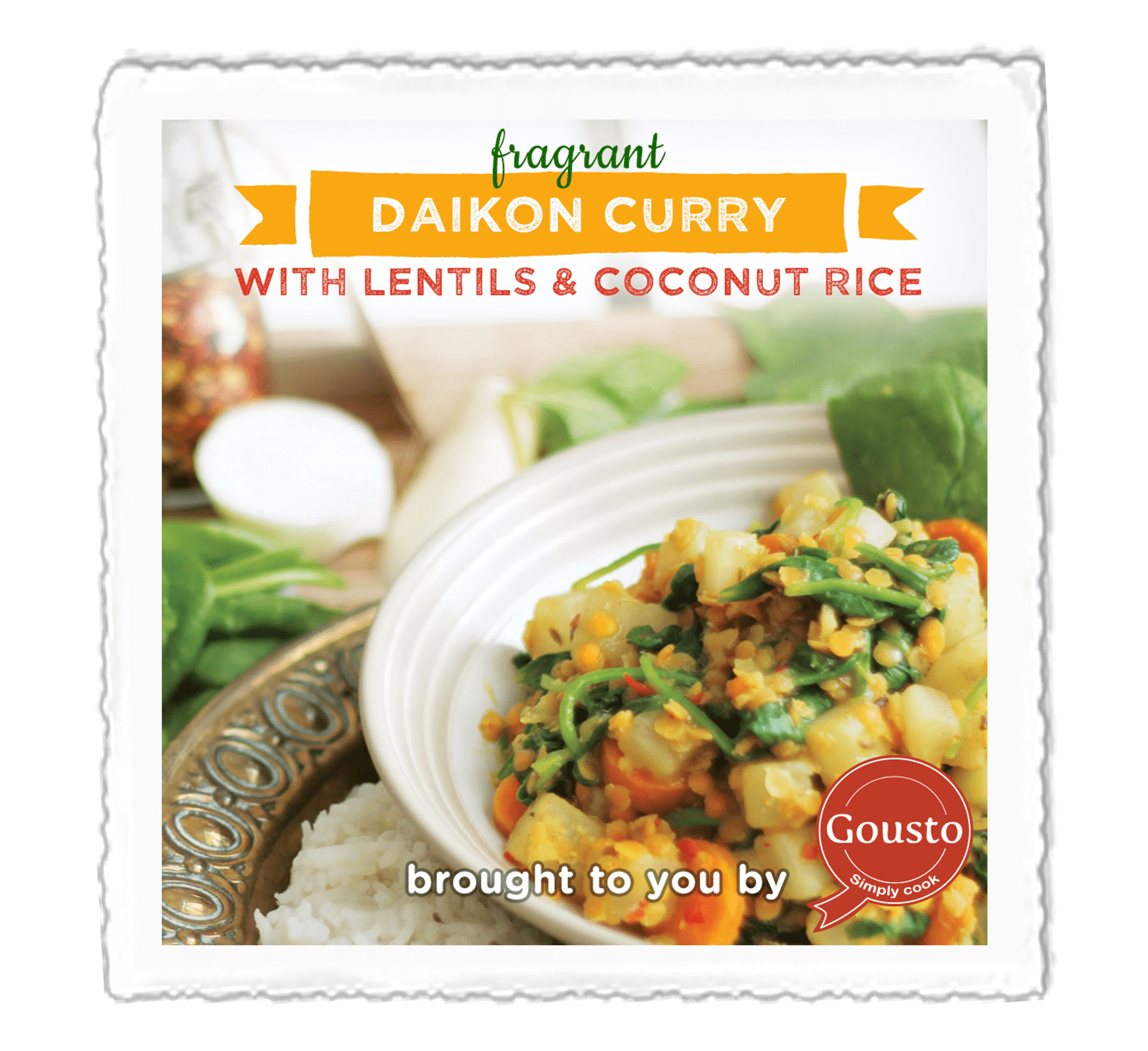 Daikon Curry with Lentils and Coconut Rice