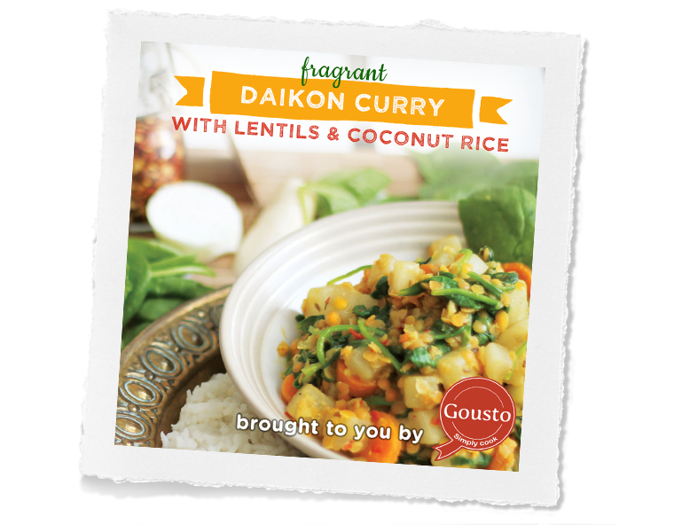 Daikon Curry with Lentils