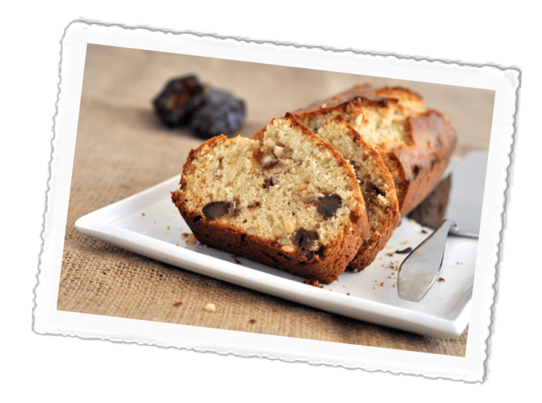Date, Walnut & Banana Cake