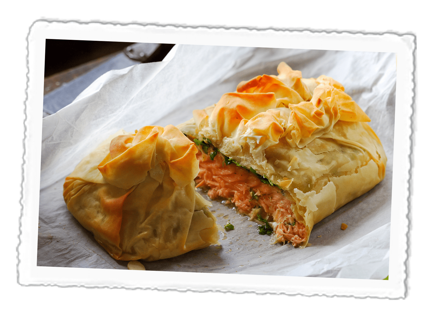 Filo-Salmon-Roll