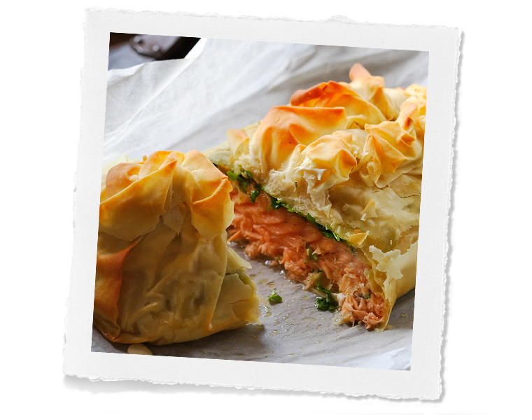 Filo Salmon Roll