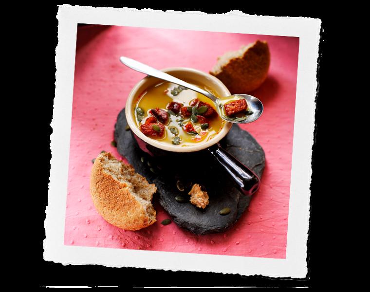Lentel and Chorizo soup