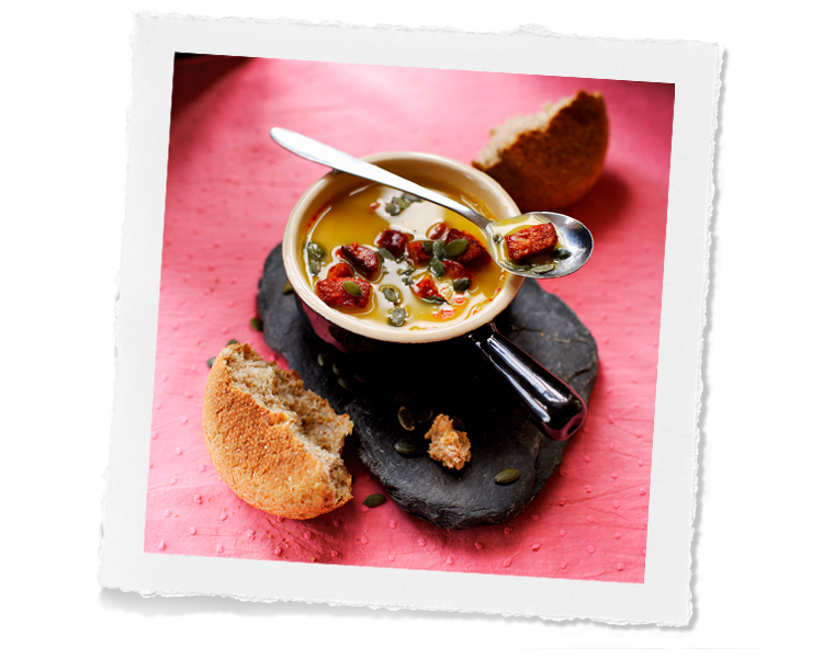 Lentel and Chorizo soup