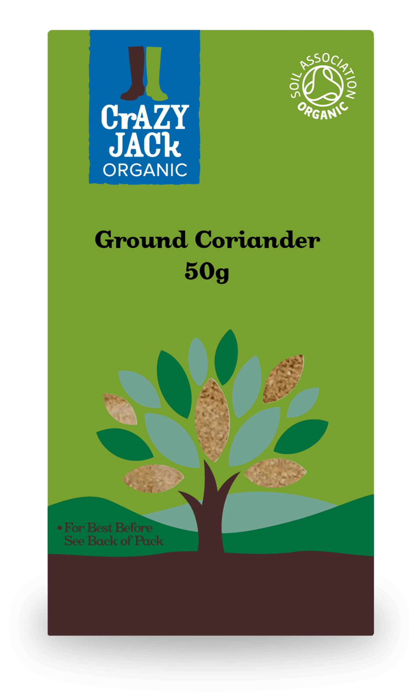 50g packet of organic ground corriander