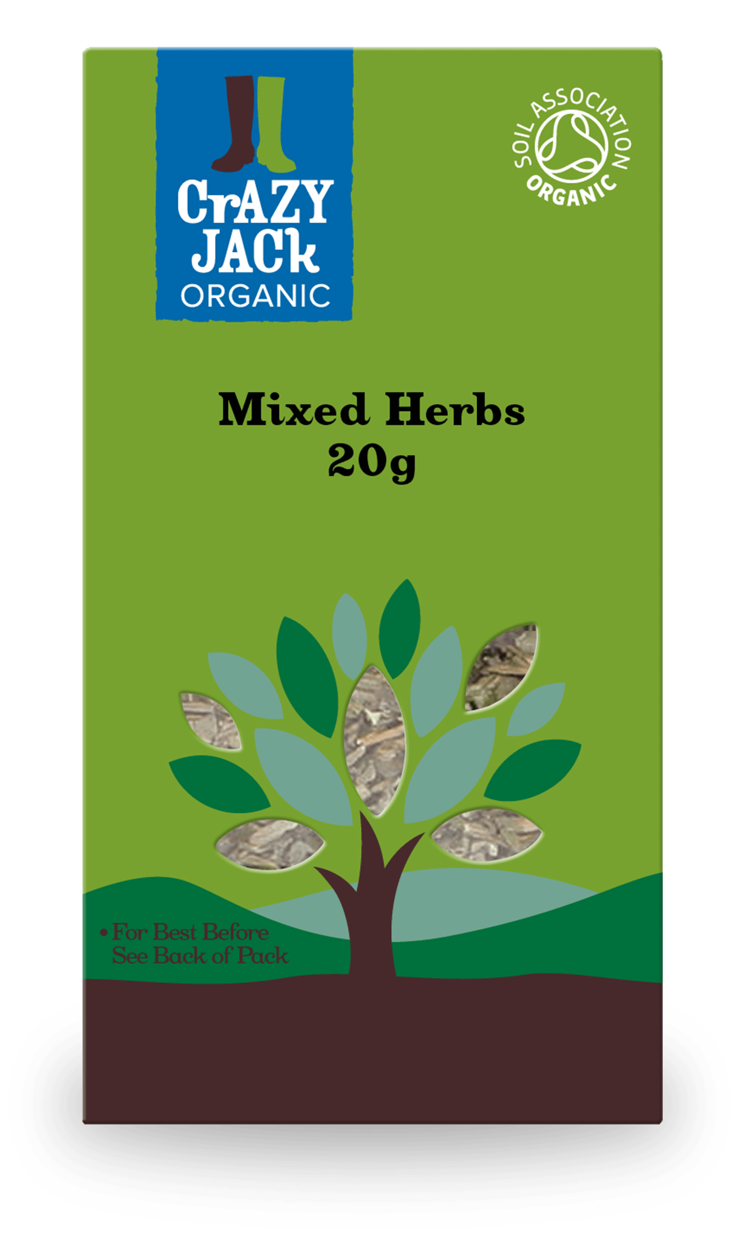 20g packet of organic mixed herbs