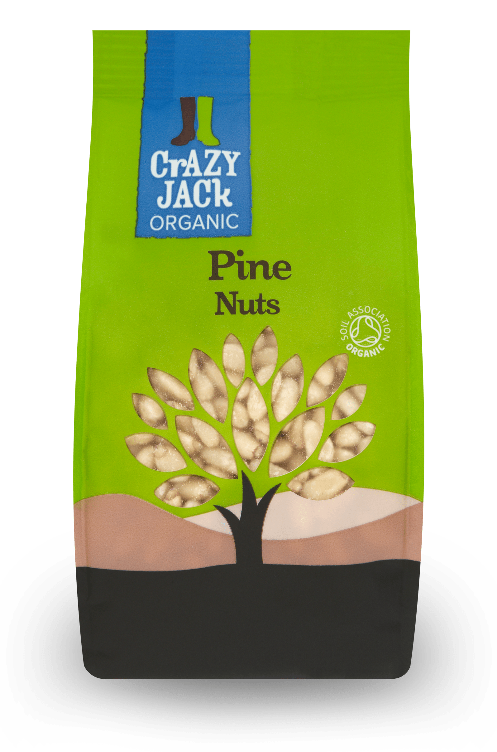 Packet of organic pine nuts