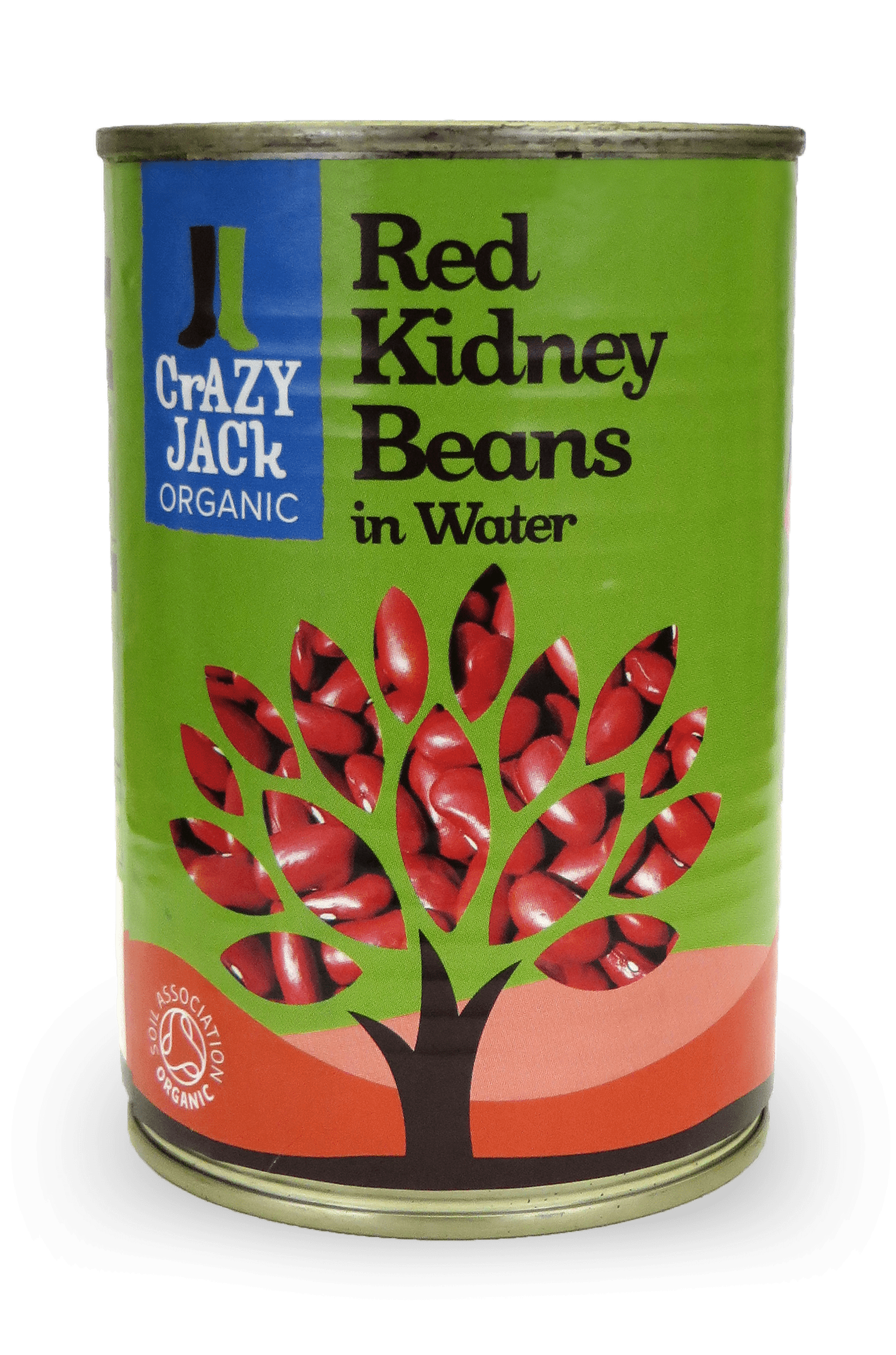 A tin of organic red kidney beans in water