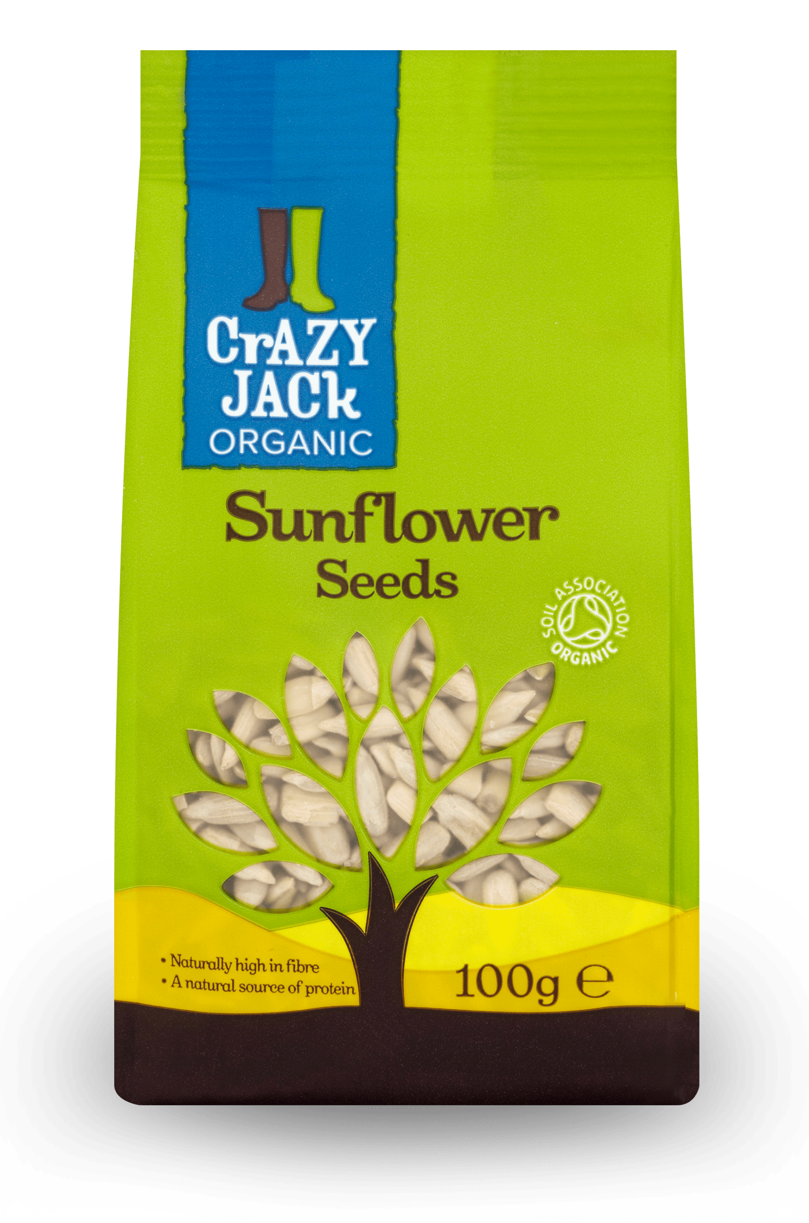 100g packet of organic sunflower seeds