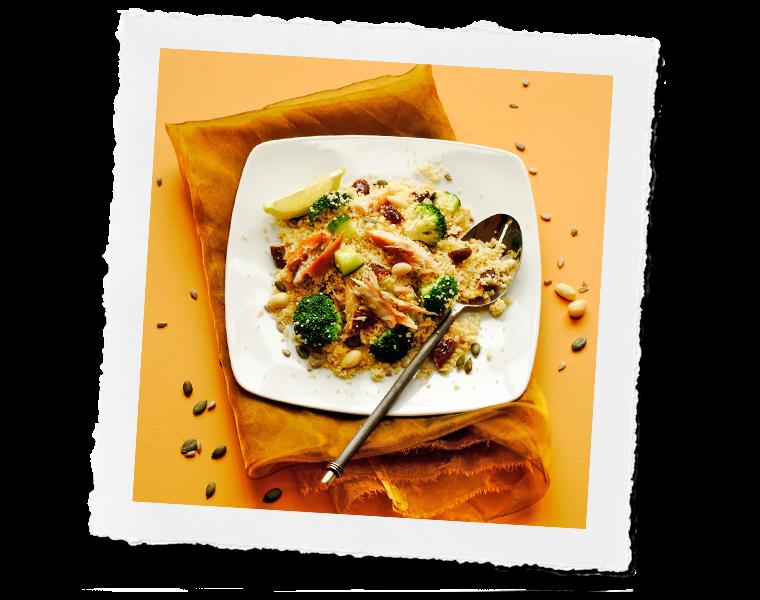 Smoked Mackerel couscous salad