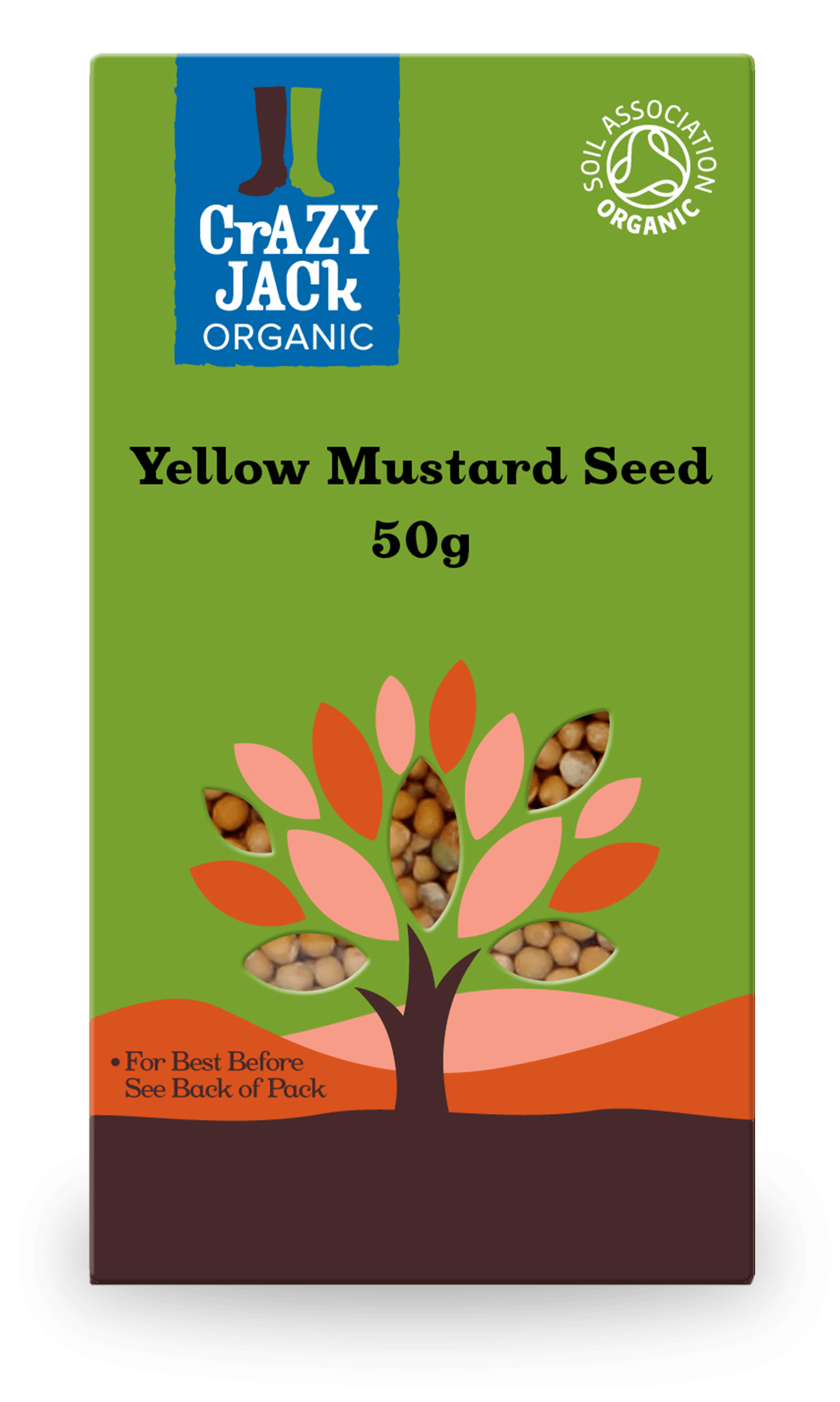 50g packet of yellow mustard seed