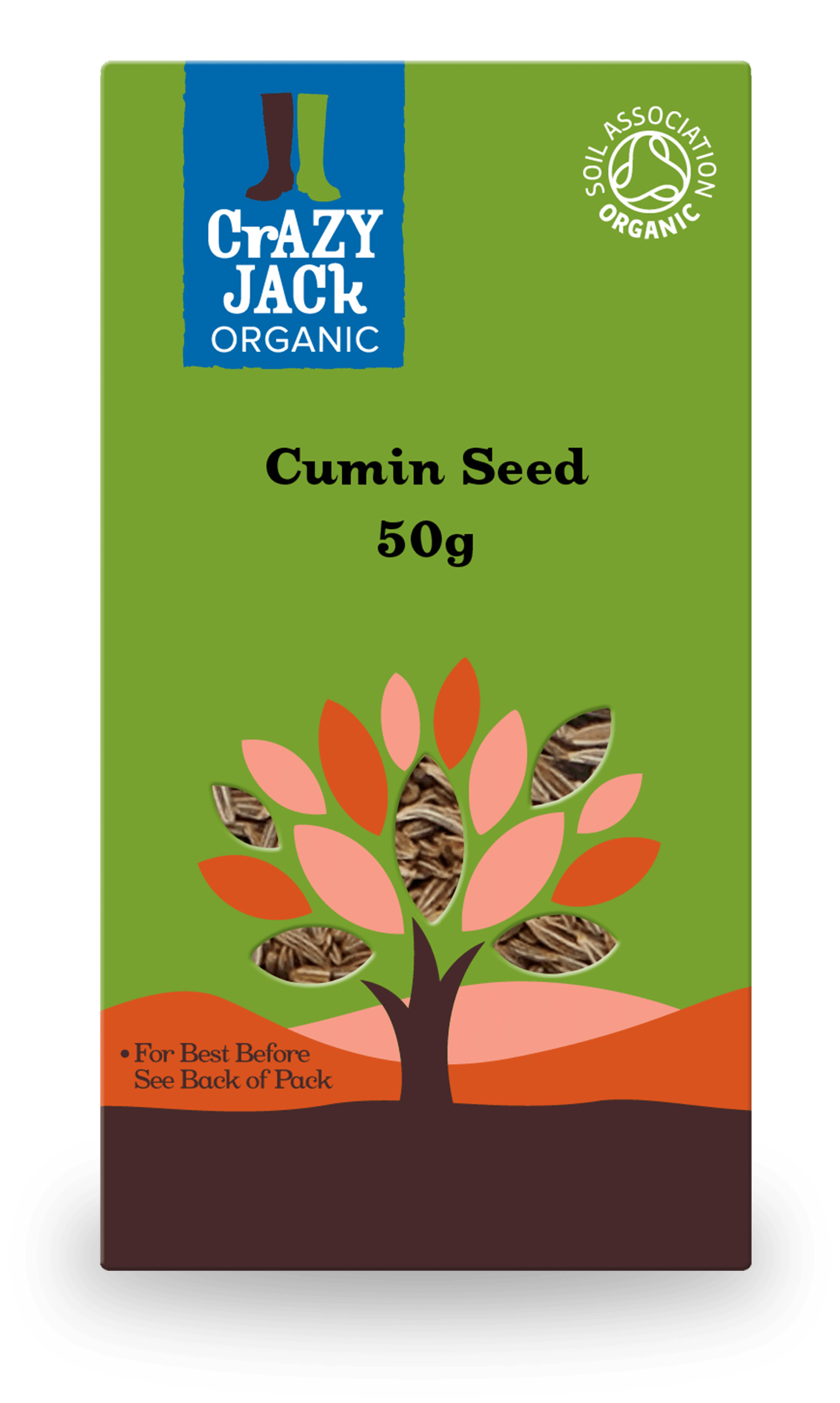 Packaging for 50g of cumin seed