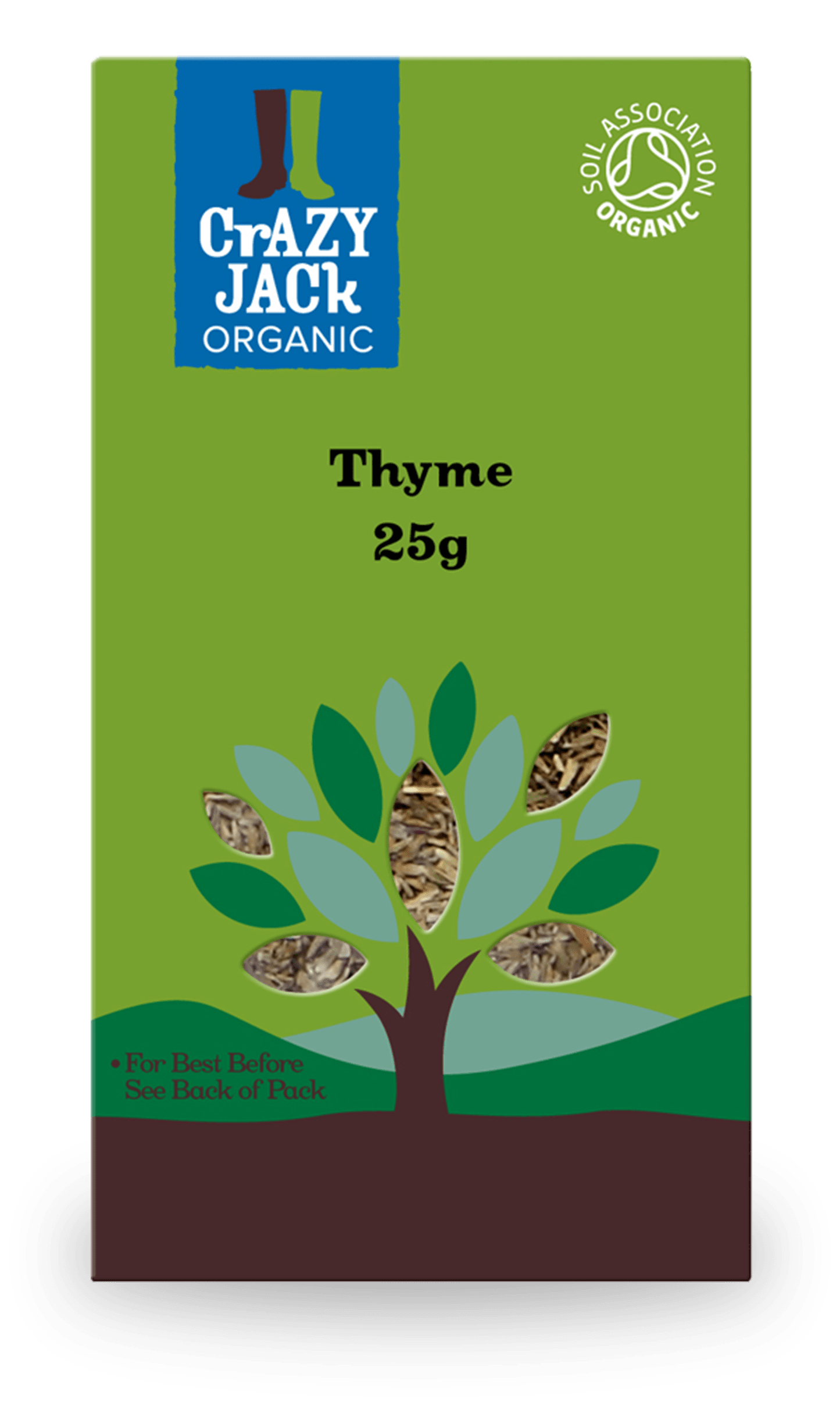 25g packet of organic thyme