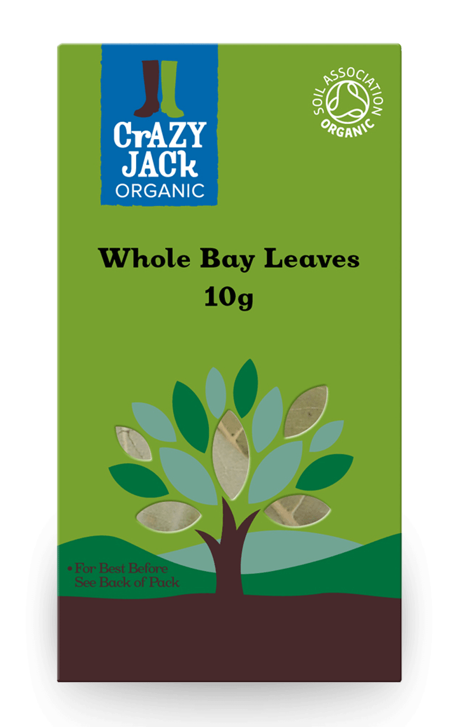 Packaging for 10g of whole bay leaves