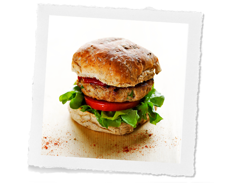 Spicy Pork & Apricot Burger
