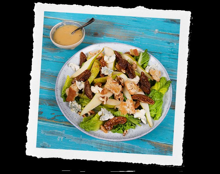 Gorgonzola Fig & Pear Salad