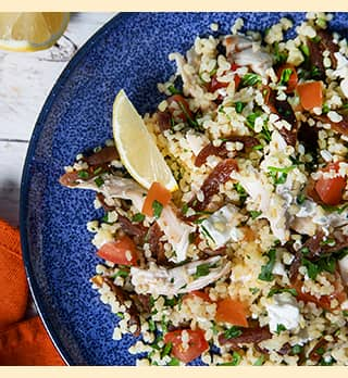 A photo of Crazy Jack's Apricot Tabbouleh with Feta and Chicken
