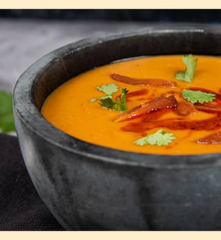 A photo of Moroccan Red Lentil and Apricot Soup